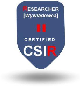 CSI - Certyfikacja - Researcher CTHC