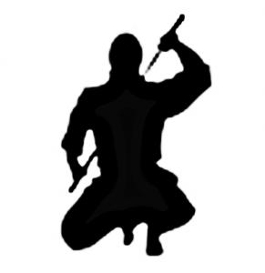 siedzący ninja