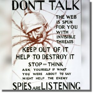 Plakat kontrwywiadowczy Szpiegul OSS CSI